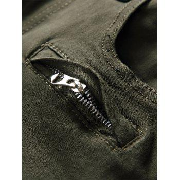 Pockets Panel Design Cargo Jeans - ARMY GREEN 30