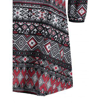 Mini Tribal Print Swing Dress - multicolor L