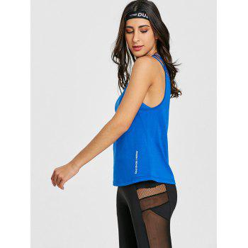 Sports  Openwork Fishnet Tank Top - ROYAL L