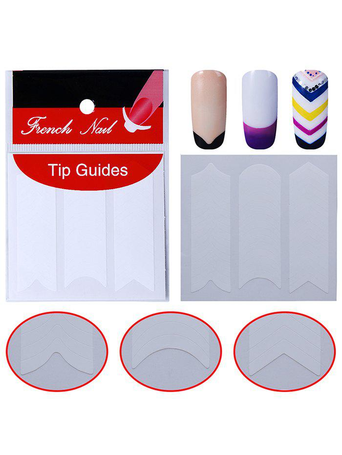 French Manicure Nail Art Sticker Tip Guide - WHITE