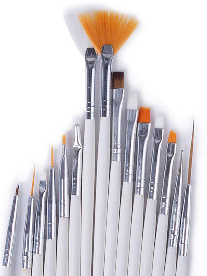 2018 Professional Manicure Brush Nail Art Painting Brush Set WHITE ...
