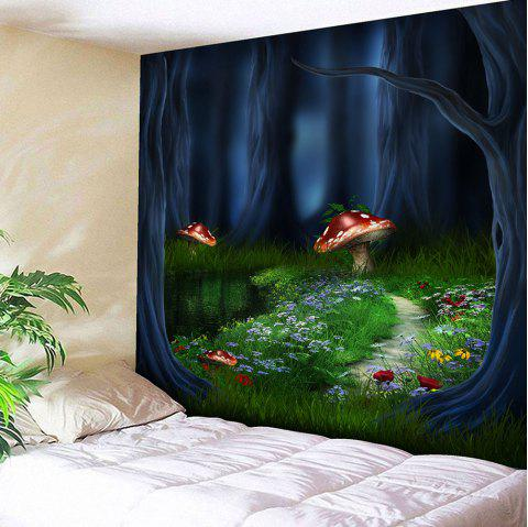Fantasy Forest Print Wall Hanging Tapestry - COLORMIX W91 INCH * L71 INCH