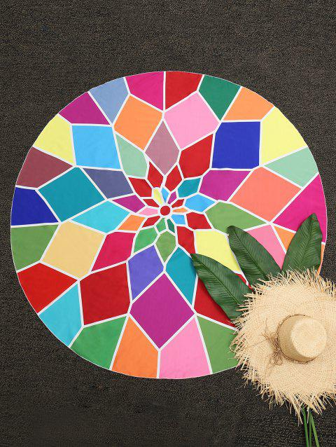 Geometric Round Beach Throw - COLORMIX ONE SIZE