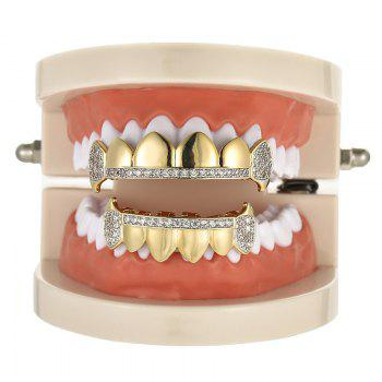 Rhinestone Hip Hop Top Bottom Teeth Grillz