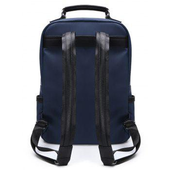 Multipurpose Double Buckles Laptop Backpack with Handle - ROYAL