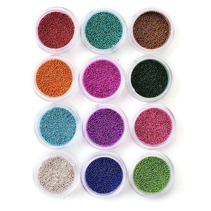 Professional 12 Colors Acrylic Nail Rhinestone Pearl Nail DIY Sticker 10pcs pack 2mm mix colors rolls metallic adhesive striping tape wide line diy nail art tips strip sticker decal decoration kit