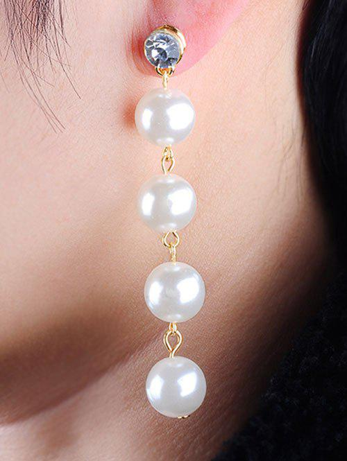 Long Faux Pearl Bunch Crystal Stud Drop Earrings faux pearl round stud earrings
