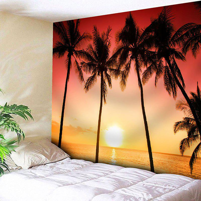 Wall Hanging Tropical Seaside Coconut Trees Print Tapestry tropical leaves print tapestry