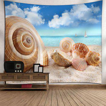 Beach Conch Shell Printed Wall Hanging Tapestry - COLORMIX W59 INCH * L51 INCH