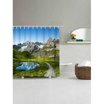 Natural Landscape Print Waterproof Polyester Bath Curtain - COLORMIX W71 INCH * L79 INCH