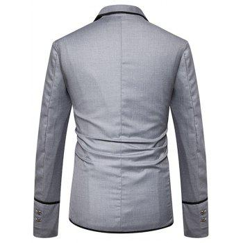 Edging Single Breasted Casual Blazer - GRAY S