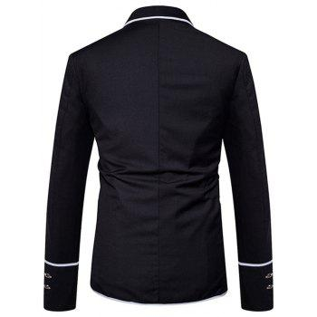 Edging Single Breasted Casual Blazer - BLACK M