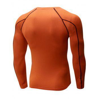 Stretchy Quick Dry Suture Long Sleeve T-shirt - JACINTH JACINTH