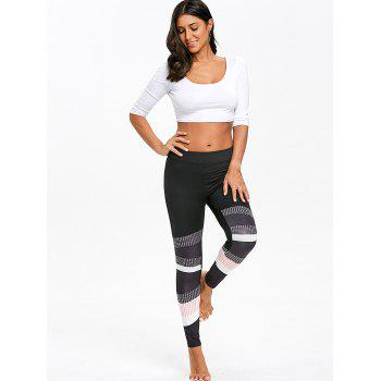 Leggings Skinny Graphic Color Block - multicolorcolore M