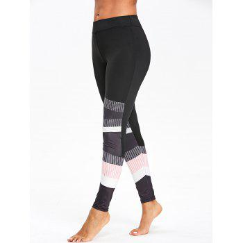 Leggings Skinny Graphic Color Block - multicolorcolore XL