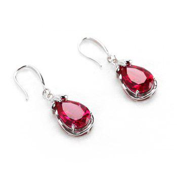 Cubic Crystal Fruit Shape Drop Earrings - RED