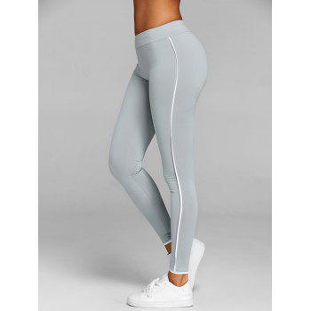 Two Tone Fitness Leggings - GRAY S