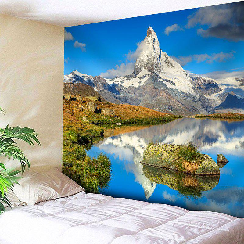 Snow Mountain Landscape Print Wall Tapestry - COLORMIX W91 INCH * L71 INCH