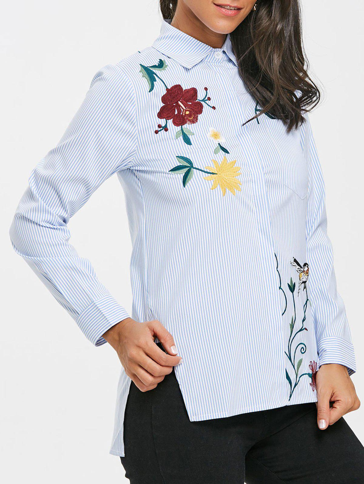 Embroidered High Low Blouse free shipping 10pcs cat7522g page 9