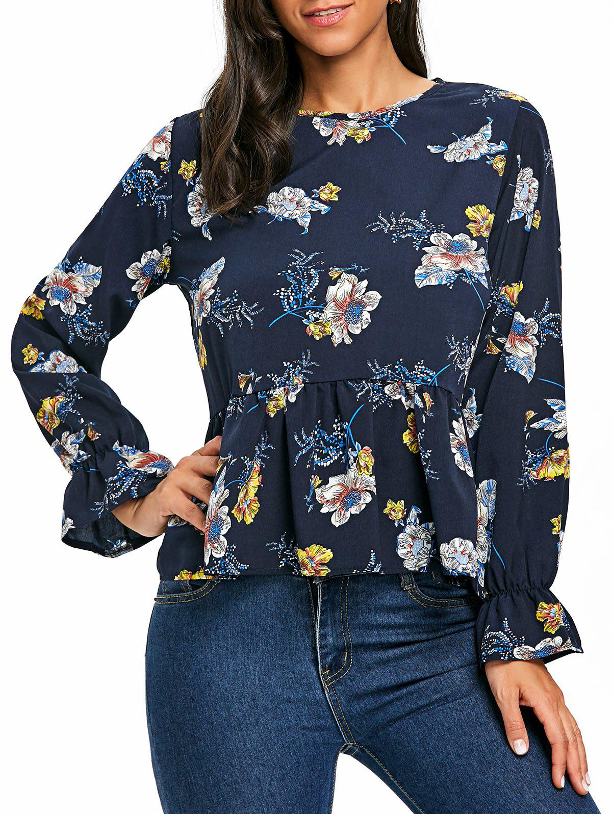 Floral Printed Peplum Blouse