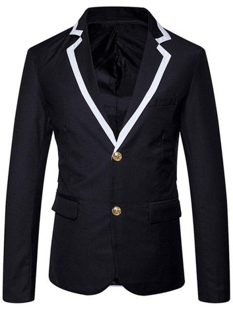 Edging Collar Single Breasted Blazer - BLACK S
