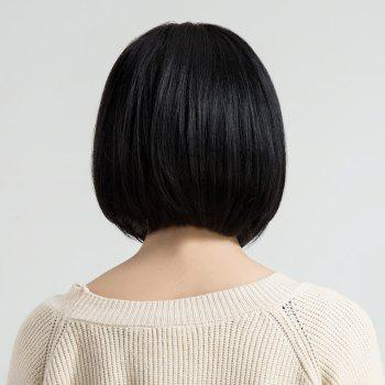 Short Straight Bob Human Hair Wig with Full Bang -  GRAPHITE