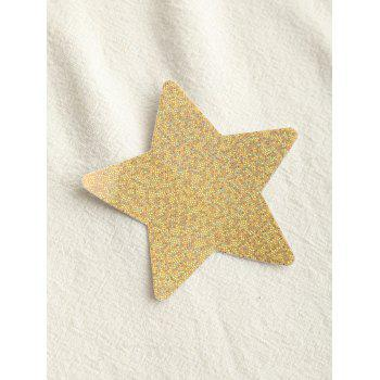 Adhesive Star Glitter Nipple Sticker - YELLOW ONE SIZE