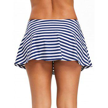 Summer Stripe Beach Swim Skirt - BLUE M