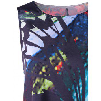 Printed Mini Swing Trapeze Dress - COLORMIX XL