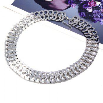 Metal Chain Design Necklace - SILVER