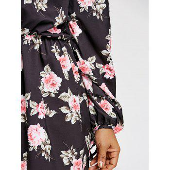 Plus Size Off The Shoulder Floral Romper - BLACK 2XL