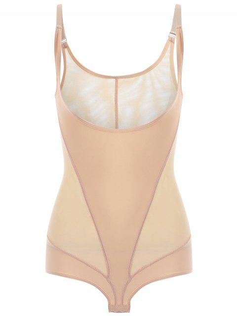 Mesh Sheer Cami Teddy - Complexion XL