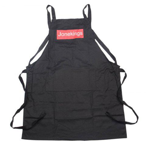 Pocket Design Cotton Cooking Apron - BLACK 76*58CM