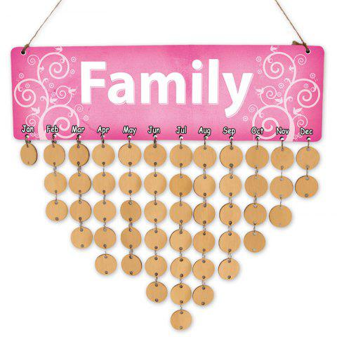 Wooden DIY Family Letter Calendar Reminder Board - GOLDEN