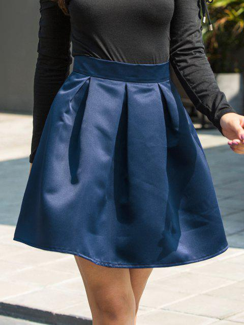 Flare Mini Skirt - BLUE L