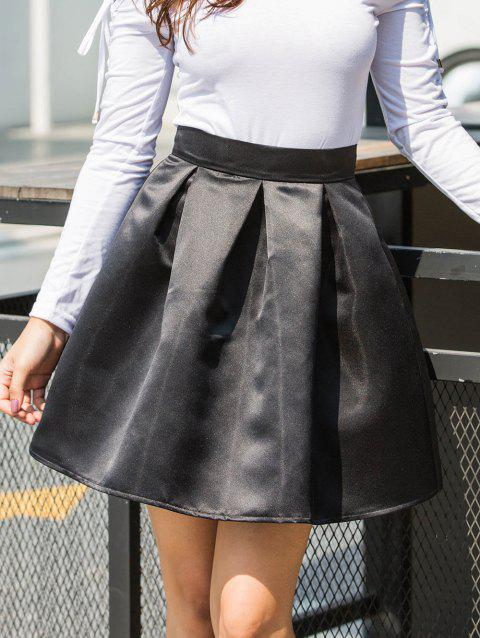Flare Mini Skirt - BLACK S