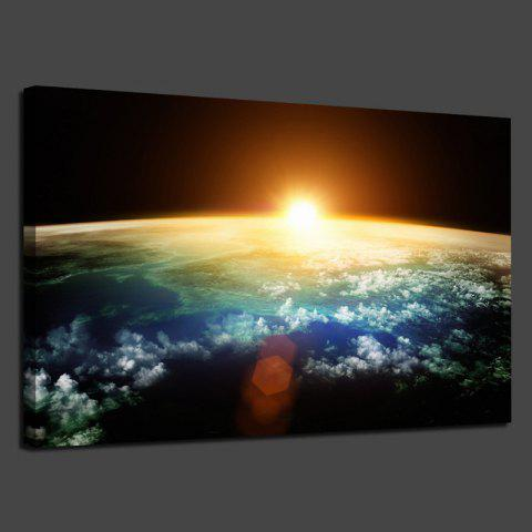 Sunrise Earth Universe Printed Home Decor Wall Art Painting - COLORFUL 1PC:20*29.5 INCH( NO FRAME )