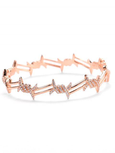 Valentine's Day Artificial Diamond Bracelet - ROSE GOLD