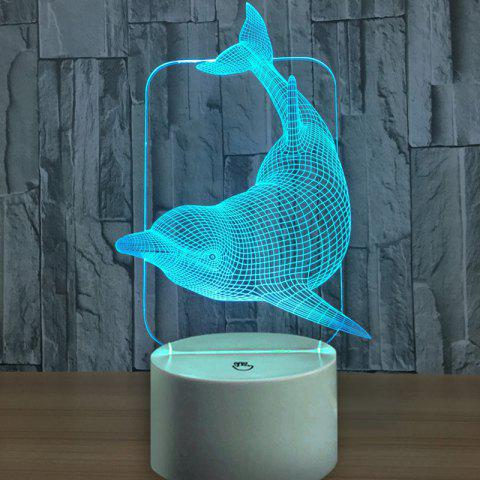 Dolphin Touch Switch Colors Changing LED Night Light