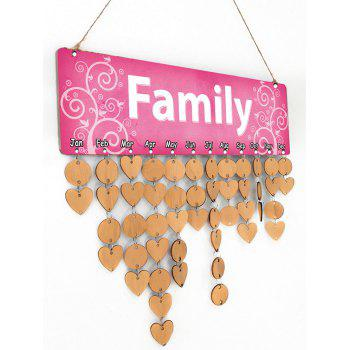 DIY Wooden Family Calendar Reminder Board Decor - GOLDEN