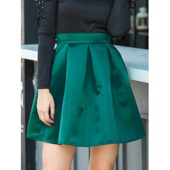 Flare Mini Skirt - GREEN GREEN