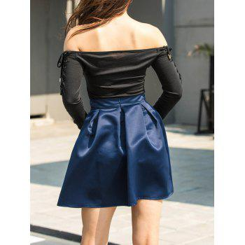 Flare Mini Skirt - BLUE M