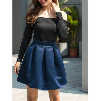 Flare Mini Skirt - BLUE S