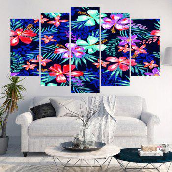 Flowers Patterned Split Canvas Wall Art Paintings - COLORFUL 1PC:12*31,2PCS:12*16,2PCS:12*24 INCH( NO FRAME )