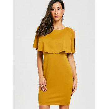 Scoop Neck Caplet Dress - GINGER GINGER