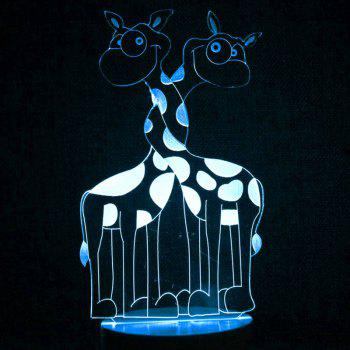 Lampe de Nuit LED Couleur Changeante Interrupteur Tactile en Forme de Girafe - Transparent