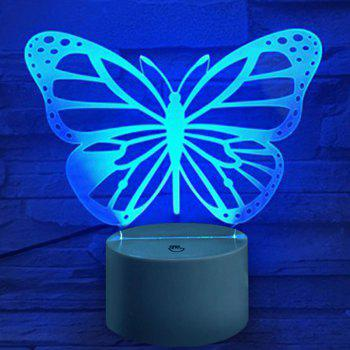 Butterfly Shape Touch Colors Changing LED Night Light Decoration - TRANSPARENT
