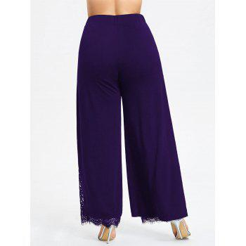 Plus Size High Split Lace Palazzo Pants - CONCORD CONCORD