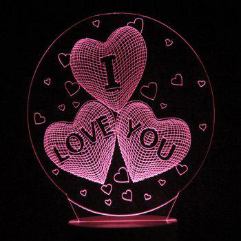 Mother's Day Love's Confession Colors Changing LED Night Light - TRANSPARENT