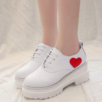 Mid Heel School Casual Shoes - WHITE 35